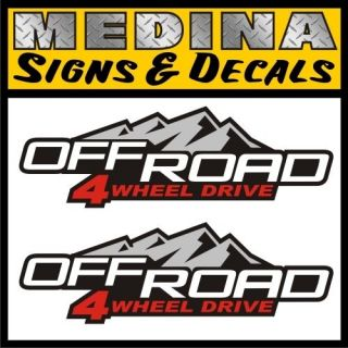 Road 4wd 4x4 Vinyl Decals / Stickers Chevy Colorado GMC Canyon Truck