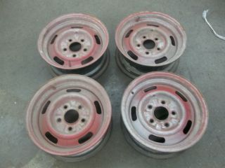 1969 Chevy Camaro 14 x 6 Rally Wheels Drum Brake K18 12 2 XN