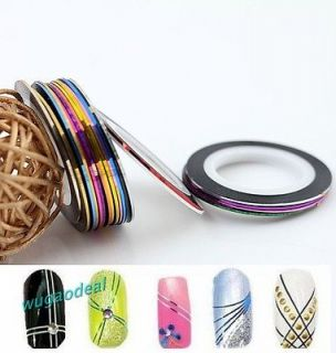 Colors Uesful Rolls Striping Tape Line Nail Art Decoration Sticker