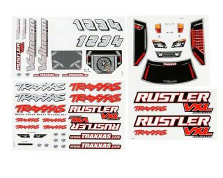 Traxxas Decal Sheets Rustler VXL [TRA3713R]  Stickers & Decals   A