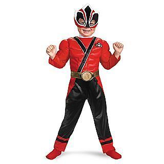 Saban Power Rangers Samurai Deluxe Muscle Chest Red Ranger Costume
