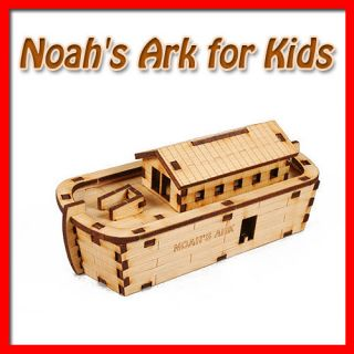 Noahs Ark for Kids 10   Wooden Model Kit /Wood/Interior​​/Decor