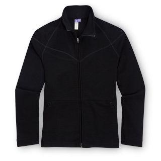 Womens Ibex Merino Wool   Energy FZ Top   Black   Medium