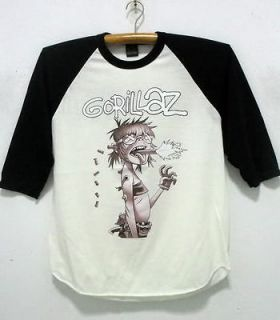 Gorillaz baseball jersey shirt Alternative rock band tour 40 size M