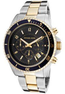 Michael Kors MK8175 Watches,Mens Chronograph Blue Dial Two Tone, Men