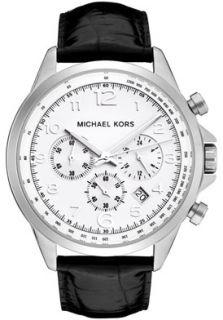 Michael Kors MK8114 Watches,Mens Chronograph White Dial Black