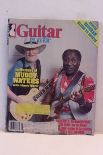 Guitar Player Aug 1983 In Memory Of Muddy Waters, With Johnny WInter