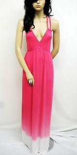 YOUNG FABULOUS & BROKE Pink and White Tie Dye Maxi Dress M 4207