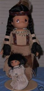 RARE MORNING STAR & PAPOOSE 1990 PRECIOUS MOMENTS 16 NATIVE AMERICAN