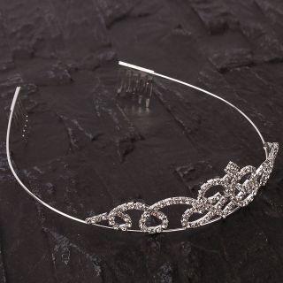 Stylish Rhinestone Crown Headband Fashion Tiara Hair Jewelry