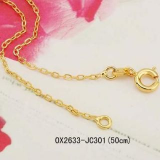 50cm 9K yellow gold filled womens chain necklace 1.5g