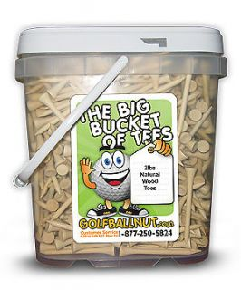 The Big Bucket of Golf Tees 750 2 3/4 Natural