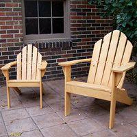 Adirondack Chair Plans Scalloped Back Full Size Patterns