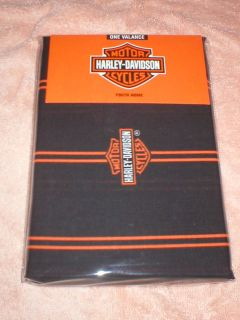 HARLEY DAVIDSON FLAME RIDER ROD POCKET VALANCE NEW IN. PACKAGE.