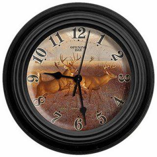 Day Deer 10 Clock By Artist Hayden Lambson W/   NEW