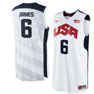 Nike LeBron James USA Basketball 2012 Replica Jersey   White