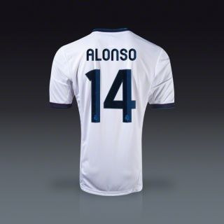 adidas Xabi Alonso Real Madrid Youth Home Jersey 12/13  SOCCER