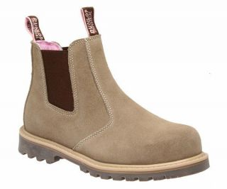 Womens Dunlop XENA *Safety* Steel Toe Cap Taupe Suede Work Boots Sizes