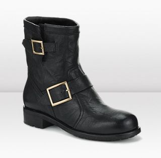 Jimmy Choo  Youth  Biker Leather Boot  JIMMYCHOO