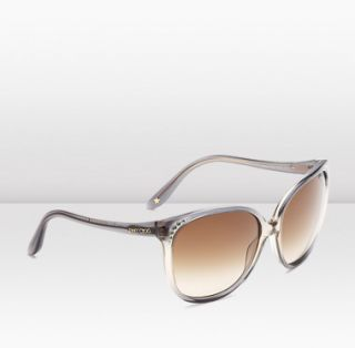 Jimmy Choo  Charlotte  Grey round framed sunglasses with brown shade
