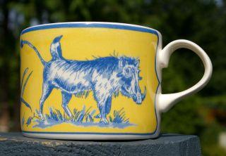 Boar Wild Pig Hog Impala Antelope Yellow Blue Coffee Mug Tea Cup Made