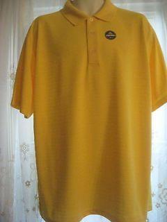 Champion Tour XL Mens Lemon Drop Yellow Golf Shirt Jersey Sun Guard