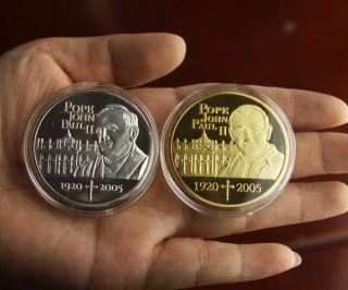 Lot of 2 / Pope John Paul II Commemorative Coins /S501