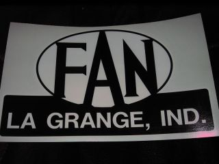 FAN Coach Vintage Travel Trailer decals LA GRANGE, IND.