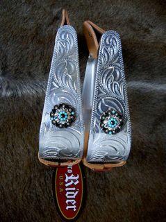 ALUMINUM WESTERN HORSE SADDLE STIRRUPS STIRRUP TACK RODEO BLING ST38