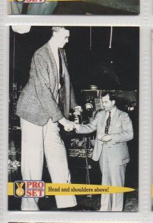 tallest man, Robert Pershing Wadlow   World Record Collector Card