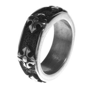 Alpaca Silver Ring R4 Ancient Aztec Greek Cross Size 10
