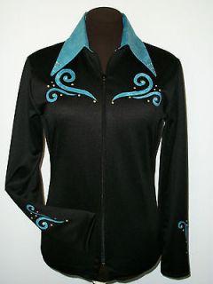 Western Show clothes RAIL PLEASURE HALTER Shirt Jacket SHOWMANSHIP,Cr