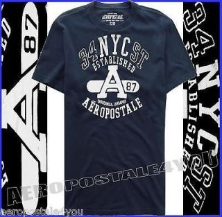 AEROPOSTALE A87 ORIG BRAND 34th STREET NEW YORK CITY T SHIRT Mens Navy