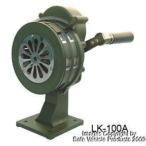 Hand Crank Siren WWII Air Raid Style Sound Metal Base