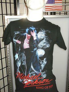 Licensed Michael Jackson Moonwalk King of Pop 80s Glove Retro T Shirt