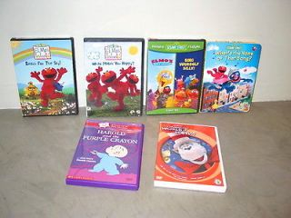 Lot of Sesame Street, Harold & Purple Crayon & Dr. Seuss DVDs   VG to