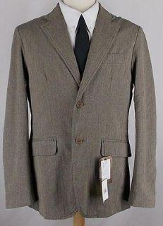 40R NEW 4 You 100% COTTON BROWN HERRINGBONE sport coat jacket suit