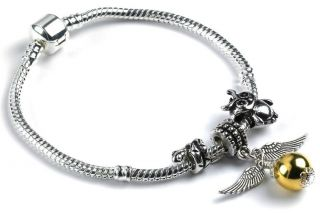 Harry Potter Golden Snitch with Hedwig & Snake Charms & Bracelet UK