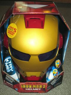 New Iron Man 2 Helmet •By Hasbro(2010)• Electronic Sounds & Lights