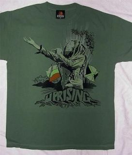 Bob Marley Uprising olive green t shirt large and 1x Zion Rootswear