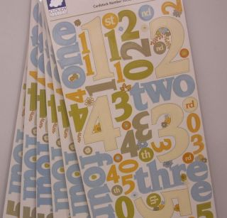 6x Cloud9 Hannah Scrapbooking Large Number Stickers 078