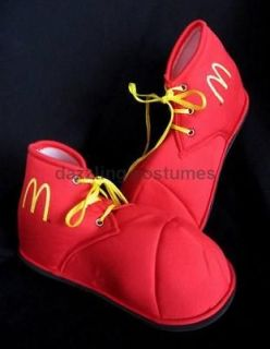 10 ronald mcdonald red clown shoes adult / child costume accessory