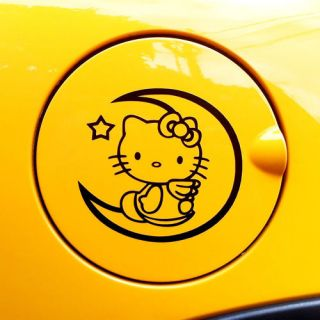 Hello Kitty Logo Decal Car Sticker fuel cover 4.0x3.7 black
