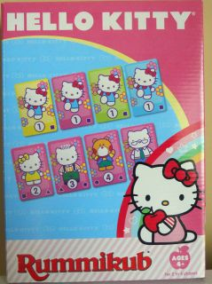 Hello Kitty Rummikub Kids Edition Game 2 4 Players Ages 4 and up NIB