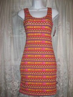 Hello Kitty Medium Multiprint Design Sleeveless Dress NWT Free Ship