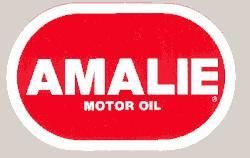 Amalie Oil 4 inch official racing decal sticker A D124