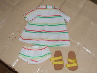 Replacement outift and sandals for Vintage 1966 67 Ideal Giggles doll