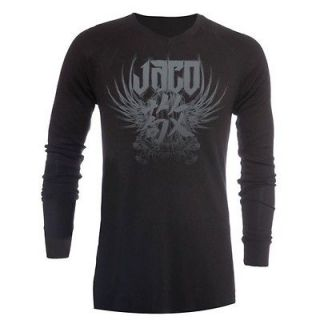 Jaco Clothing MMA Venerable V Neck Bamboo Black Mens Thermal Shirt S