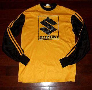 SUZUKI Vtg 70s 80s Moto X MOTOCROSS Yellow Jersey T Shirt Racing Bmx