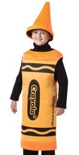 Funny Boys Girls Orange Crayola Crayon Kids Halloween Costume